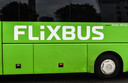 epa06741386 A Flixbus bus seen in front of the central train station in Dresden, Germany, 16 May 2018.   The German bus company is launching its data-driven bus service in the United States, choosing US west coast on starting of its operation.  EPA/FILIP SINGER
