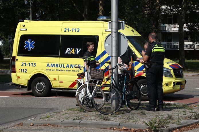 De vrouw werd geraakt door een auto