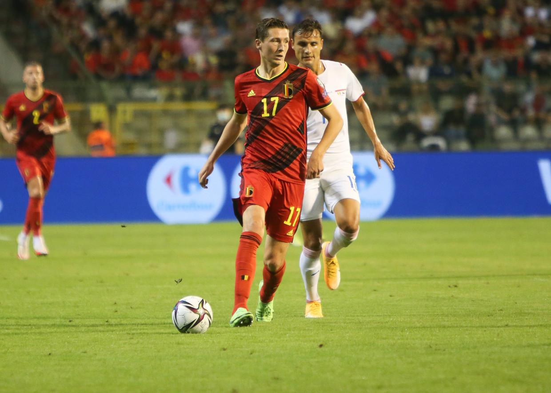 Hans Vanaken in de match tegen Tsjechië Beeld Photo News