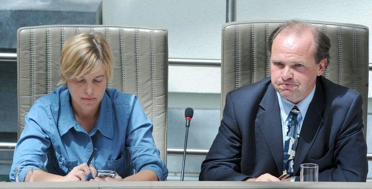 Ministers Joke Schauvliege (CD&V) en Philippe Muyters (N-VA).