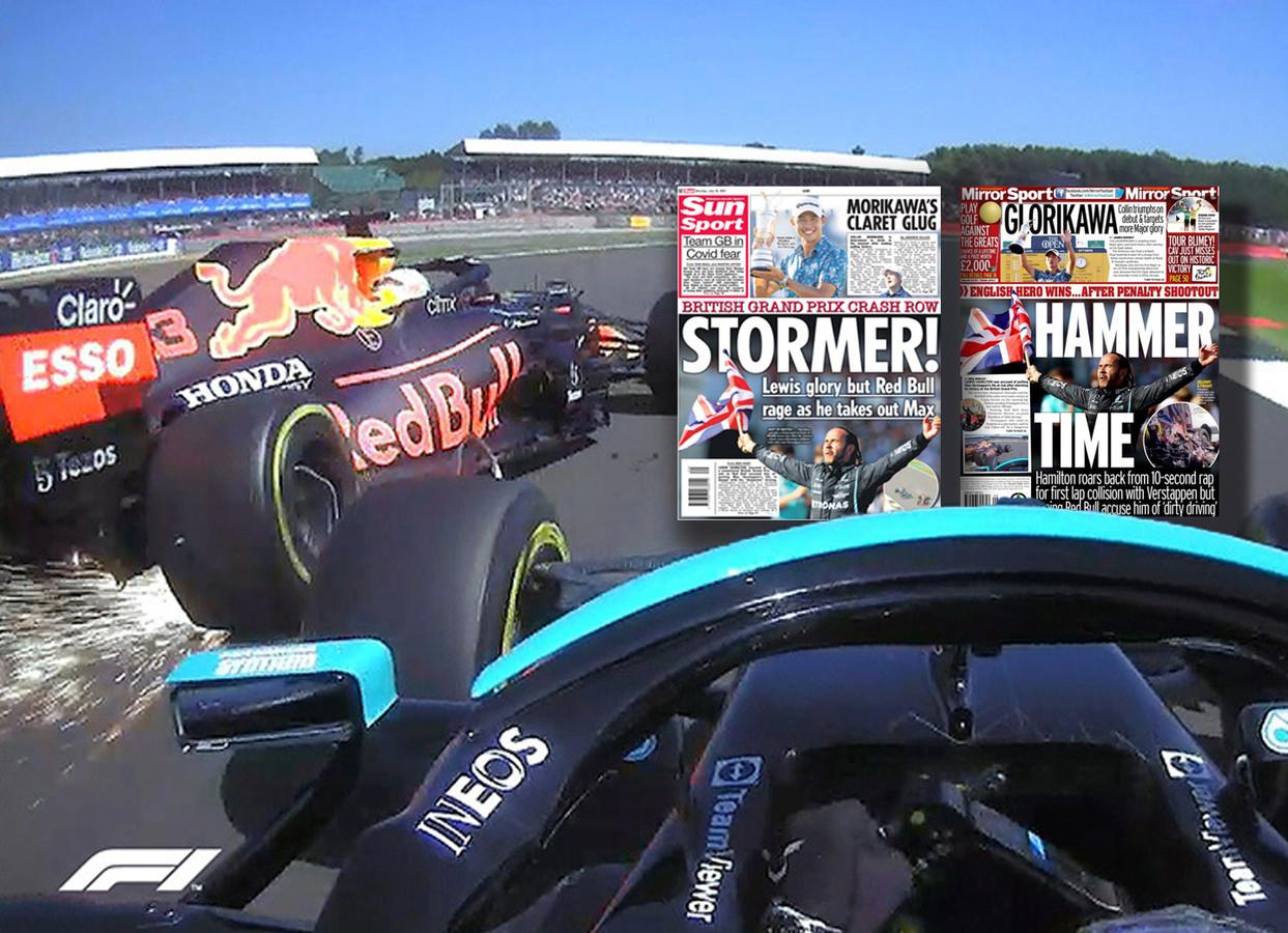 De klap tussen Max Verstappen en Lewis Hamilton.