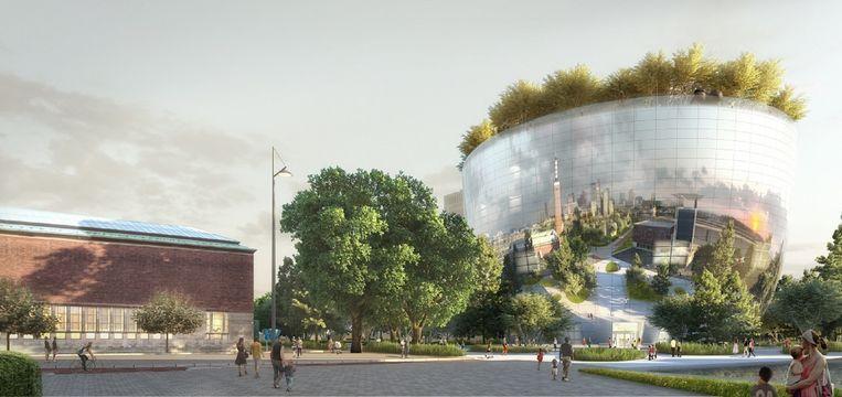 Visualisatie Collectiegebouw. Beeld MVRDV