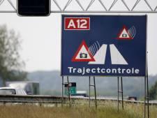 Trajectcontrole A12 bij Woerden en Zeelandbrug weg
