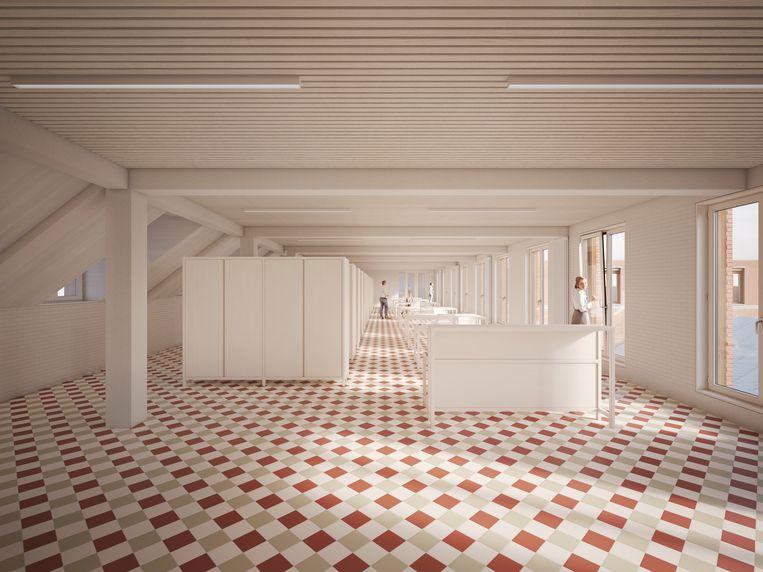 Zo gaan de nieuwe kantoren er op de huidige zolder uitzien.