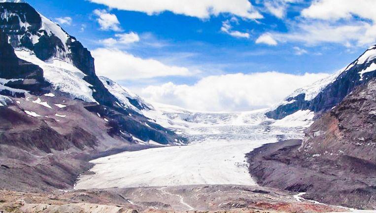 Een gletsjer in Athabasca, Canada. Beeld null