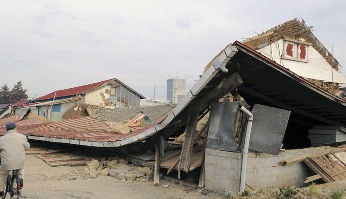 De schok legde dit gebouw in puin.
