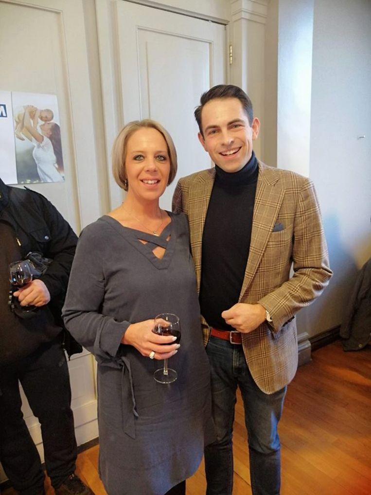 Katrina Langlet, in februari nog bij voorzitter Tom Van Grieken Beeld DSS