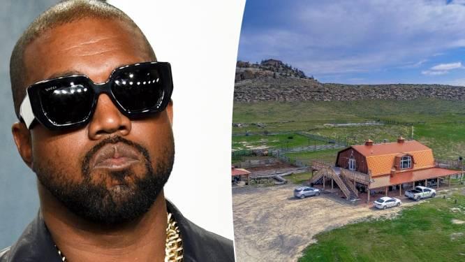 Kanye West zet zijn enorme ranch te koop voor 'maar' 9,5 miljoen euro