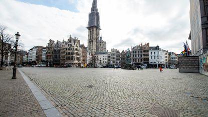 FOTOREEKS: Antwerpen lijkt wel spookstad: verlaten straten, een leeg station en lege Grote Markt