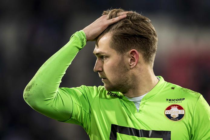 Teleurstelling na afloop bij Willem II-keeper Mattijs Branderhorst.