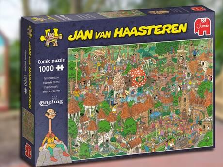 Uren turen naar stukjes van het sprookjesbos: Jan van Haasteren maakt puzzel van de Efteling