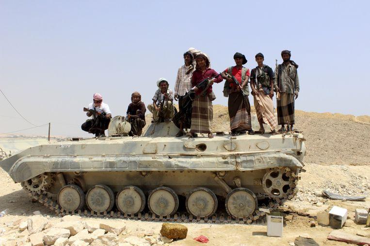Leden van al Qaida in Yemen. Beeld REUTERS
