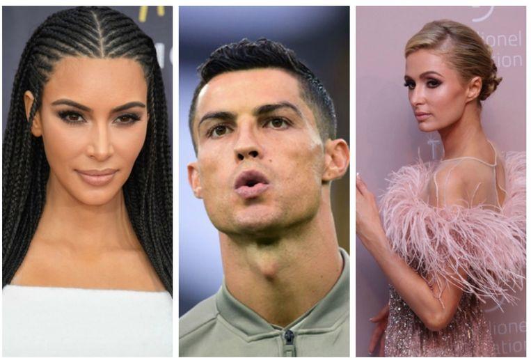 Kim Kardashian en Paris Hilton hadden beiden een relatie met Ronaldo.