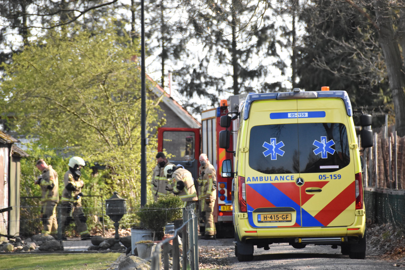 De brandweer wist de brand in Westerhaar zaterdag snel te blussen.