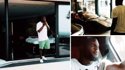 Een fabelachtig optrekje en blitse bolides bij de vleet: Lukaku deelt beelden van vakantie boordevol luxe (maar inmiddels is het uit met de pret)
