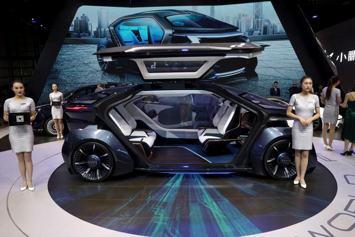 De Muse, een concept voor een zelfrijdende auto, van fabrikant Iconiq Motors. Te zien op de autoshow van Sjanghai. FOTO NG HAN GUAN/AP