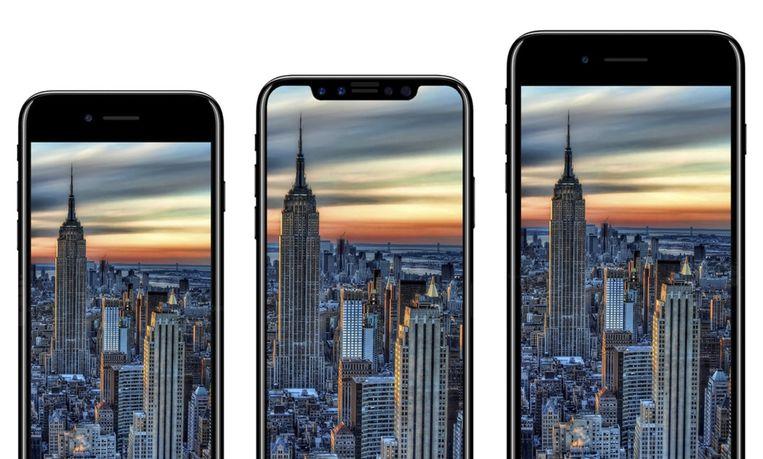 Ziet de nieuwe iPhone-line-up er straks ongeveer zo uit? Beeld rv