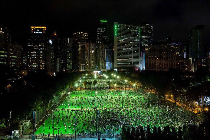 In 2020 kwamen tienduizenden mensen in Hongkong toch samen om het Tienanmenprotest te herdenken.