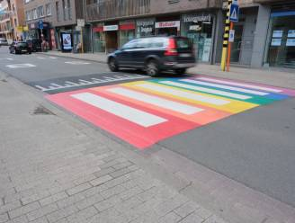 Tervuren schildert regenboogzebrapad om holebigemeenschap te steunen