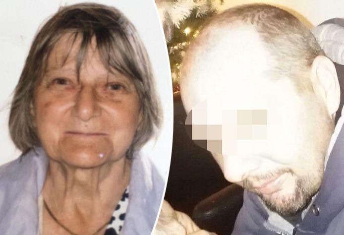 F.P. (rechts) is aangehouden op verdenking van gijzeling, oplichting, informaticabedrog en het bedrieglijk achterhouden van de bankkaart van zijn moeder, Solange Hennaert (links), die sinds midden 2017 vermist is.