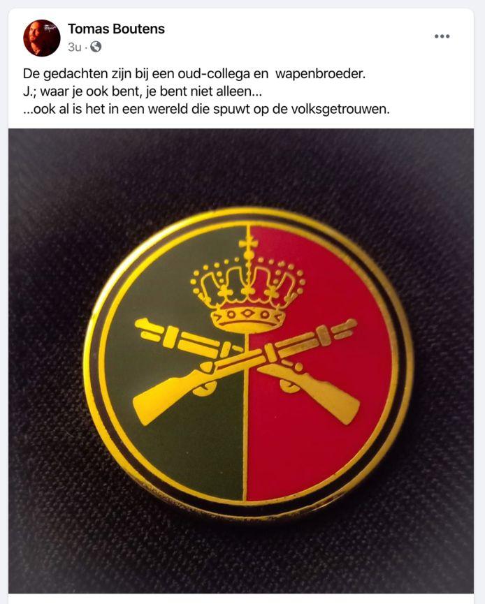 Het bericht op de Facebookpagina van Boutens vanavond.