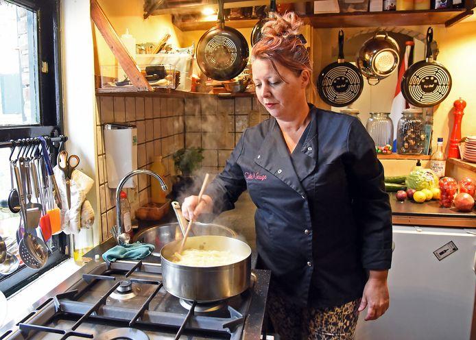 Peggy de Rijcke in haar restaurant CuliNeuze in Terneuzen.