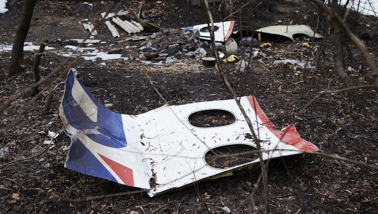 Resten van de MH17. Beeld anp