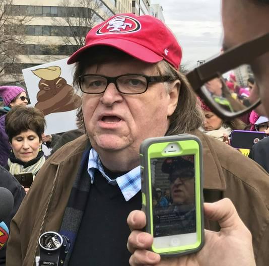 Filmmaker en Oscarwinnaar Michael Moore.