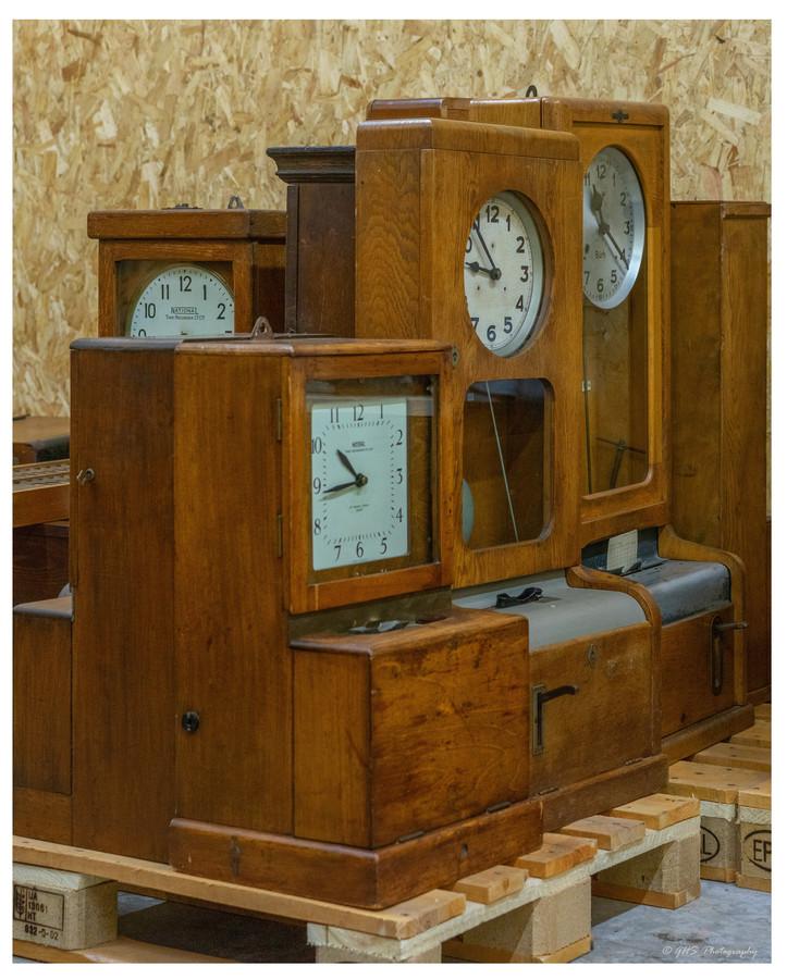 Prikklokken in het Industrieel Museum in Sas van Gent.