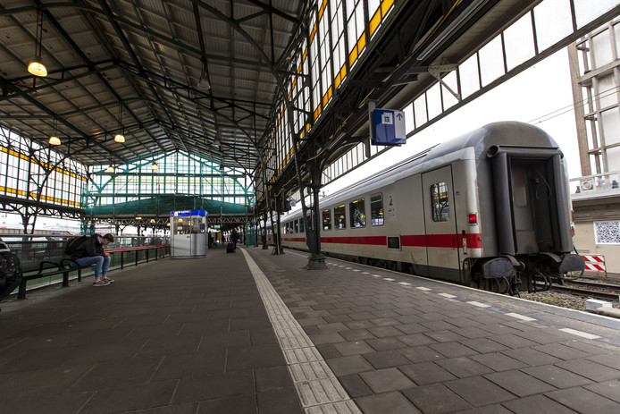 De internationale trein, hier in Hengelo