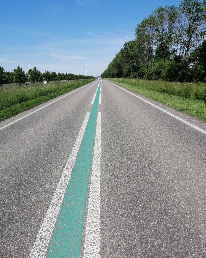 De Biddingringweg, de N305 is tijdelijk dicht.