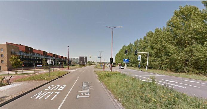 De druk bereden Taludweg in Nieuwegein: de vluchtweg van de daders.