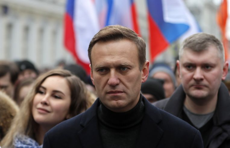 Russisch oppositieleider Aleksej Navalny. Beeld EPA