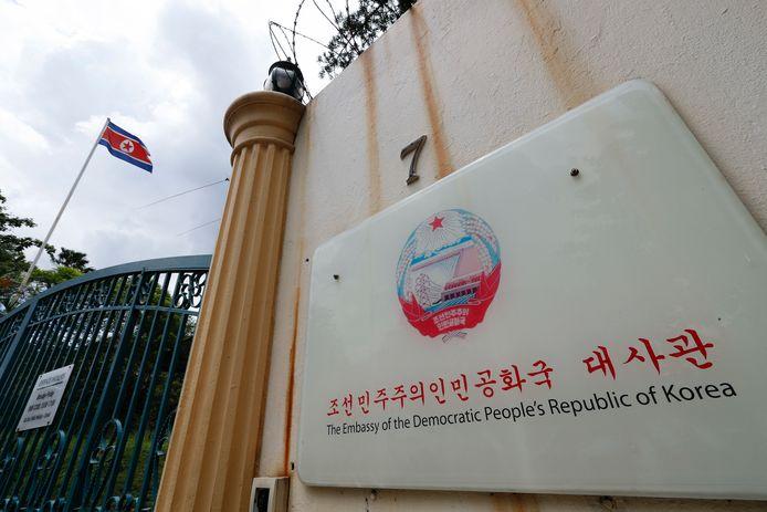 De Noord-Koreaanse ambassade in Kuala Lumpur. Archiefbeeld.