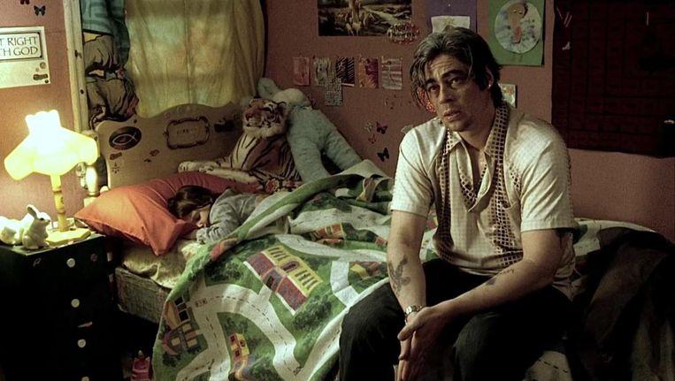 Benicio del Toro in 21 Grams. Beeld