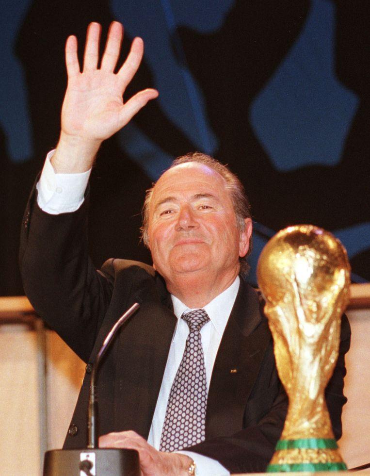 Voorzitter van FIFA, Sepp Blatter. Beeld AP
