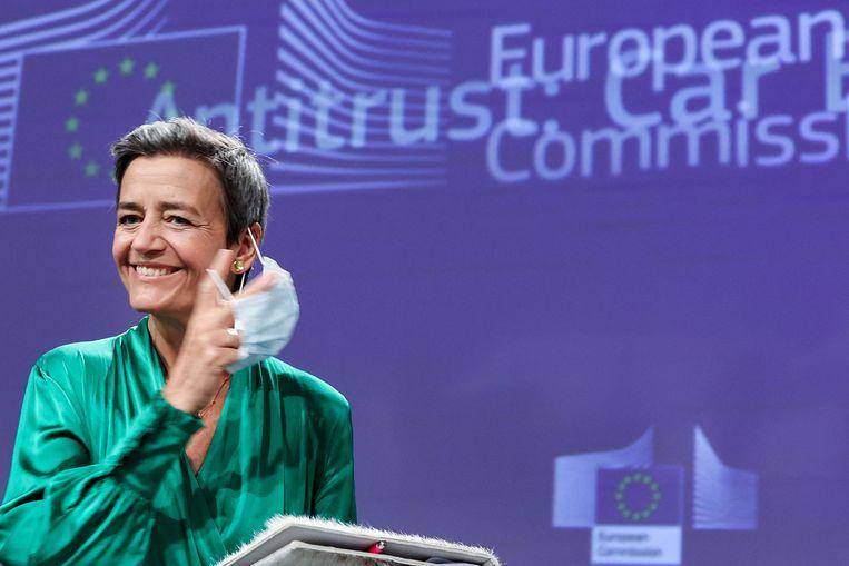 Eurocommissaris en vice-president Margrethe Vestager eerder deze maand. Beeld AFP