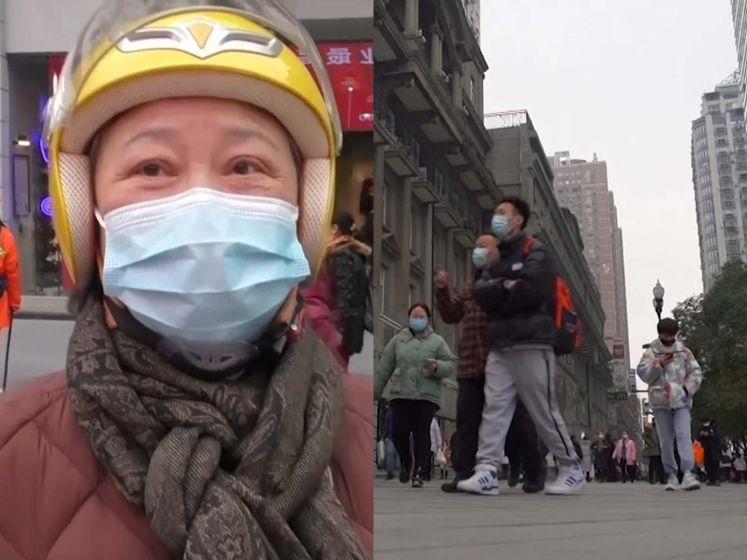 """Wuhan, 1 jaar later: """"Het is nergens zo veilig als hier, ik zou doodsbang zijn in VS of VK"""""""