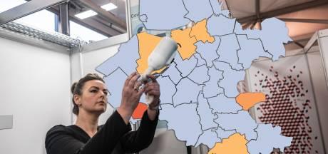 KAART | Besmettingen schieten naar beneden: waslijst aan gemeenten op nul, Putten valt uit de toon