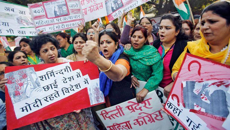 Vrouwen gingen in december massaal de straat op, nadat een vrouwelijke passagier was verkracht door een UberPOP chauffeur.