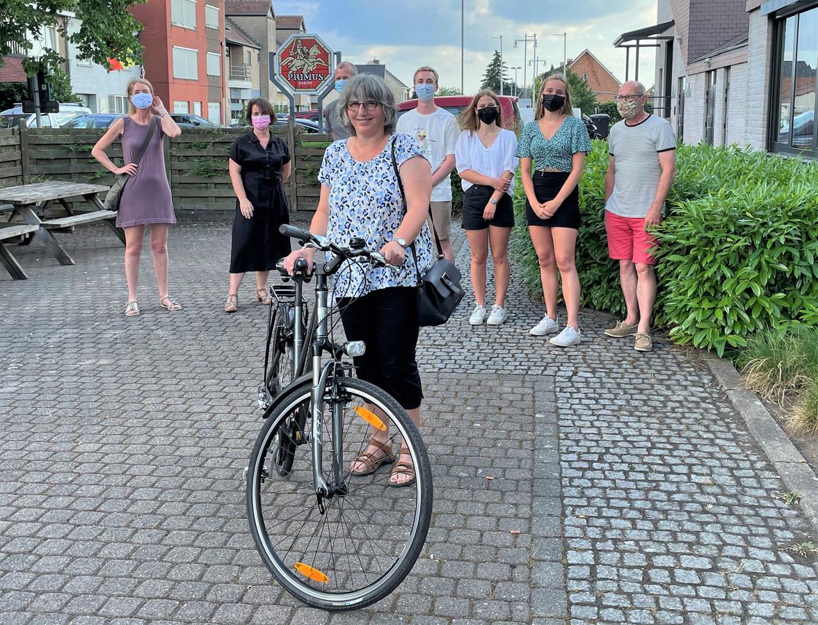 Alexandra en haar fiets
