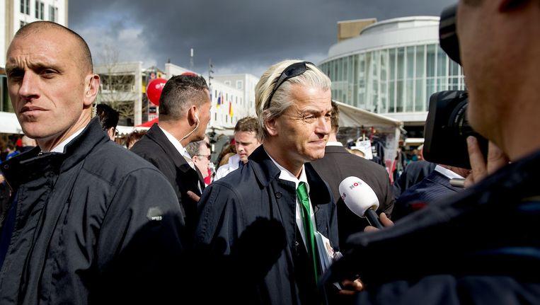 PVV-leider Geert Wilders tijdens een bezoek aan Almere. Beeld anp