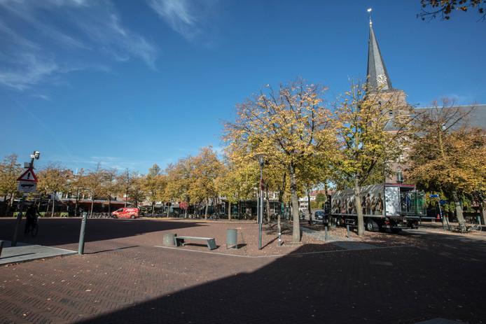 De lindes op de Markt in Deurne.