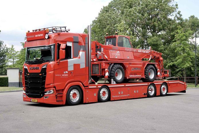 De Scania 650S van Berry Melissen uit Barneveld.