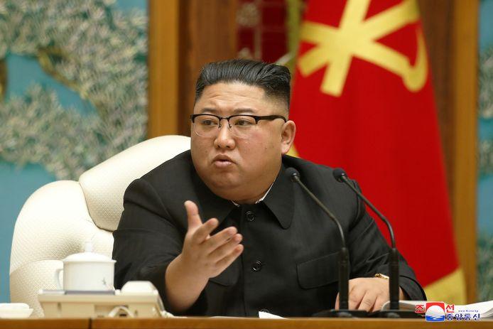 Kim Jong-un op een niet gedateerde foto die het Korean Central News Agency (KCNA) maandag verspreidde.