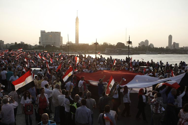 Anti-Mursi betoging in Caïro. Beeld GETTY