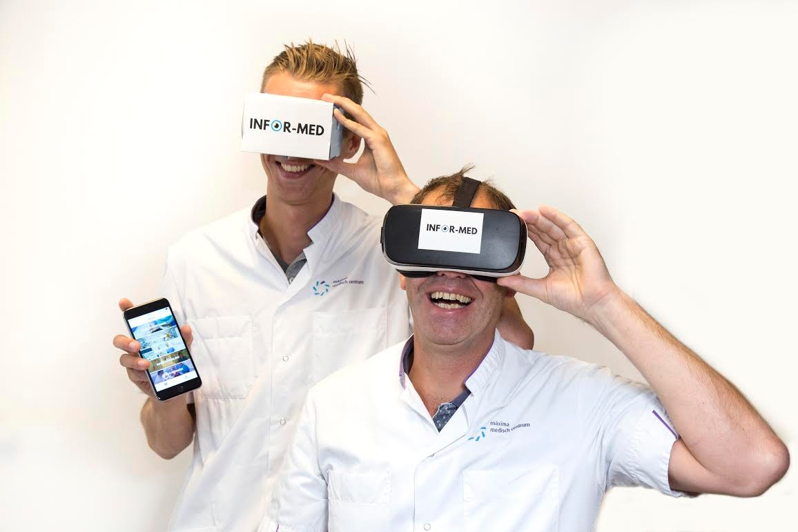 De app en virtual reality van Infor-Med