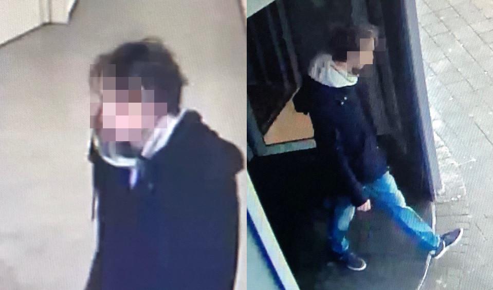 Opsporingsfoto's die de politie verspreidde van Thijs H.