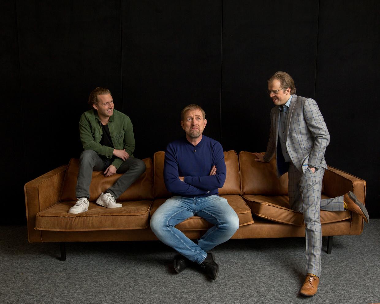Jan Jaap van der Wal (r), Harm Edens en Peter Pannekoek (l).