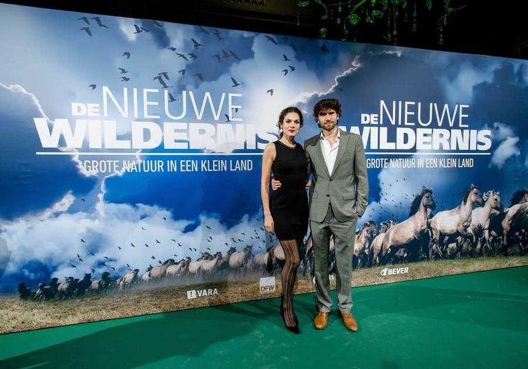 Actrice Anna Drijver en partner Benja Bruining. Beeld anp